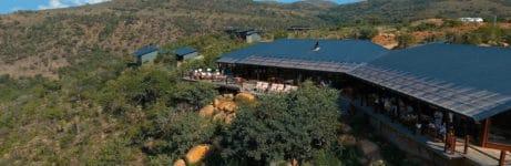 Rhino Ridge Safari Lodge Aerial View
