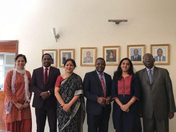 Raffle winner at the Zimbabwe High Commission