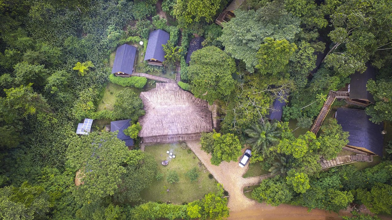 Buhoma Lodge Aerial View
