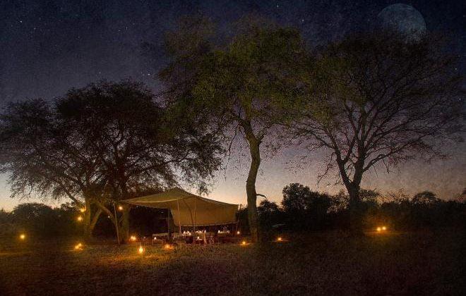 Camp Nomade View At Night