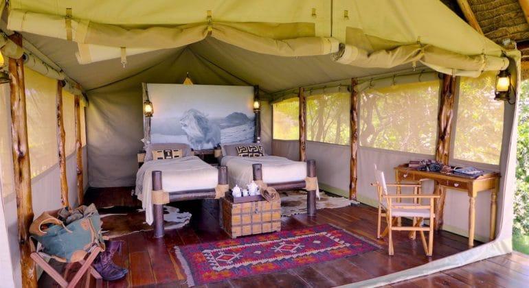 Campi Ya Kanzi Tent Interior