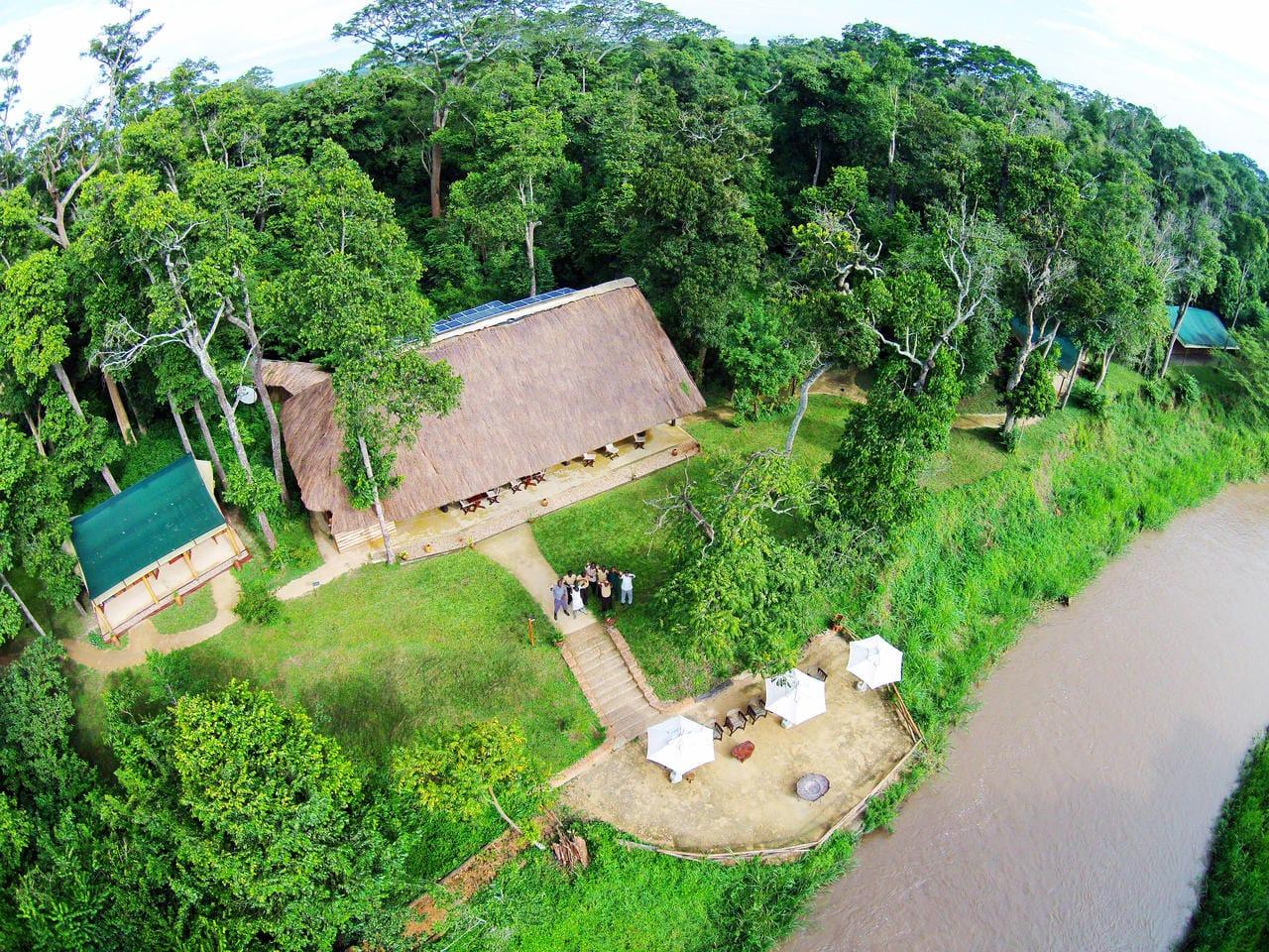 Ishasha Wilderness Camp Aerial View