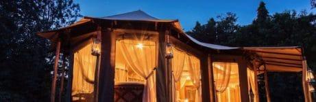 Kusini Kopjes Kambi Tent View At Night