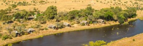 Kwando Lagoon Camp Aerial View