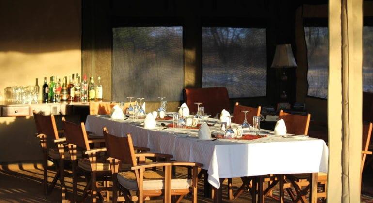 Manyara Tented Camp Dinner