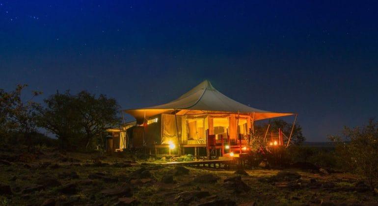 Ol Seki Hemingways Mara Tent At Night