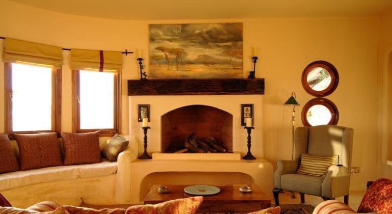 The Sanctuary At Ol Lentille Fireplace