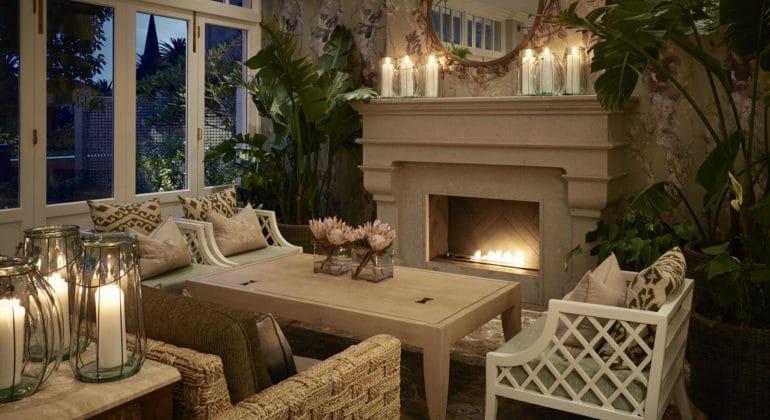 Belmond Mount Nelson Hotel Fireplace