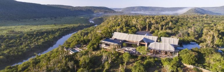 Kariega Settlers Drift Lodge Aerial View