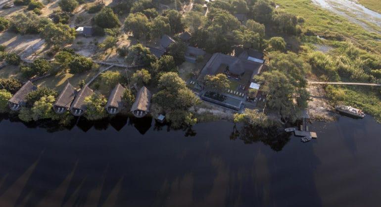 Chobe Water Villas Aerial View