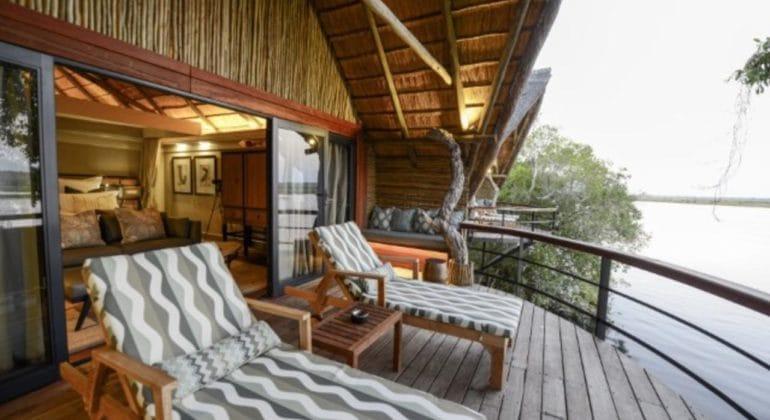 Chobe Water Villas Bedroom Patio