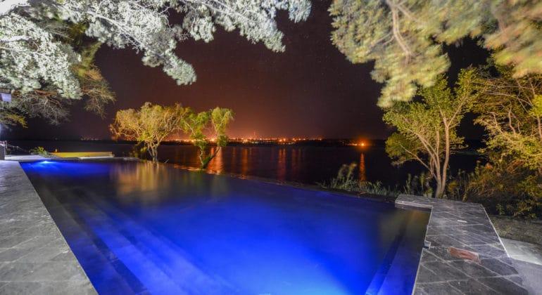 Chobe Water Villas Pool At Night