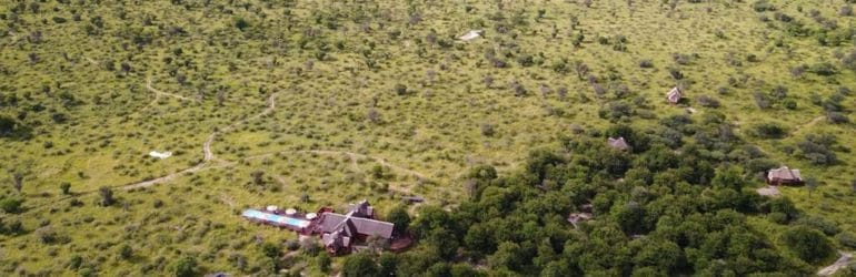 Feline Fields Lodge Aerial View