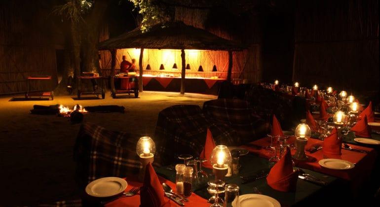 Malamala Main Camp Outdoor Dining