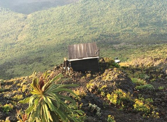 Nyiragongo Volcano Summit Shelters Toilet