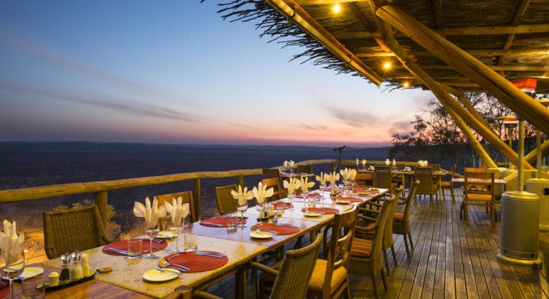 Ongava Lodge Dining Deck