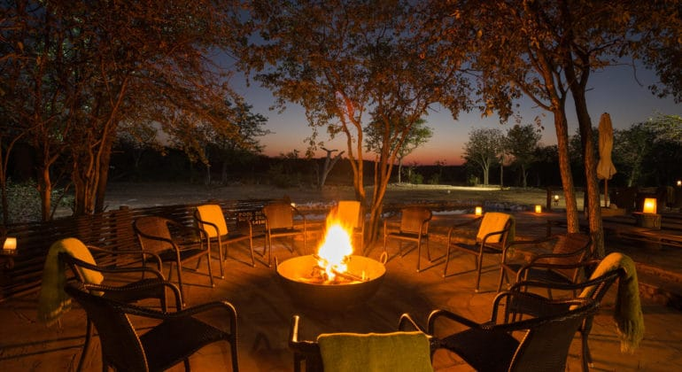 Ongava Tented Camp Campfire