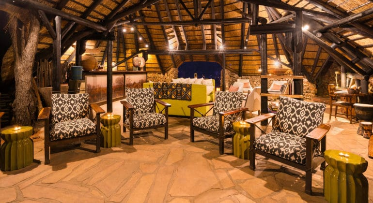 Ongava Tented Camp Lounge And Entrance