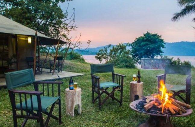 Tchegera Island Camp Campfire 1