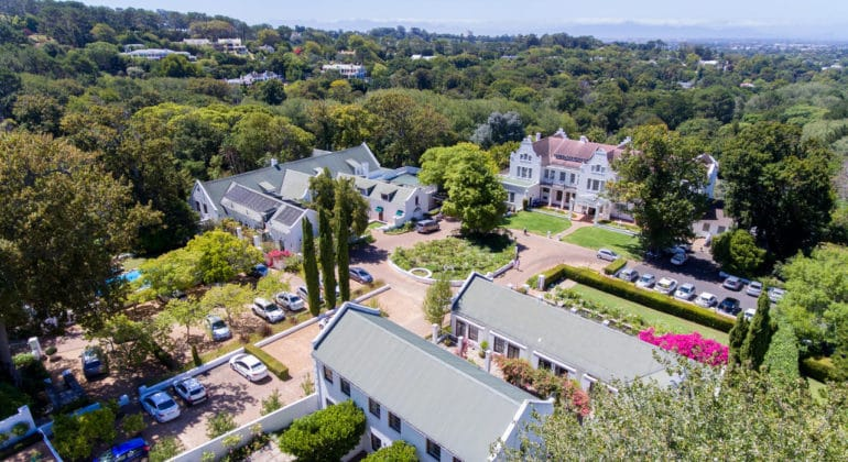 The Cellars Hohenort Aerial View