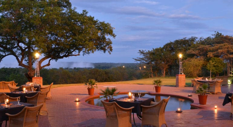 The Victoria Falls Hotel Outdoor Dining