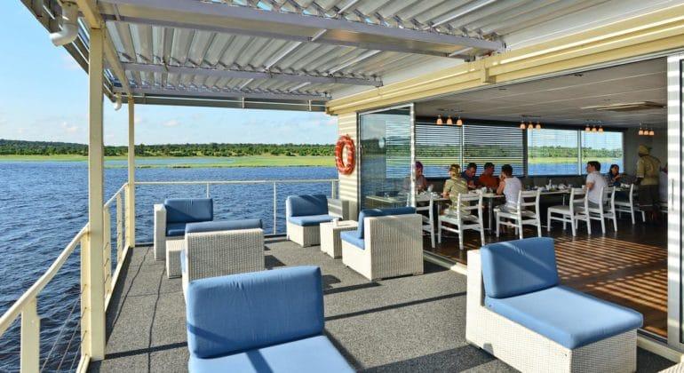 Zambezi Queen Deck Lounge