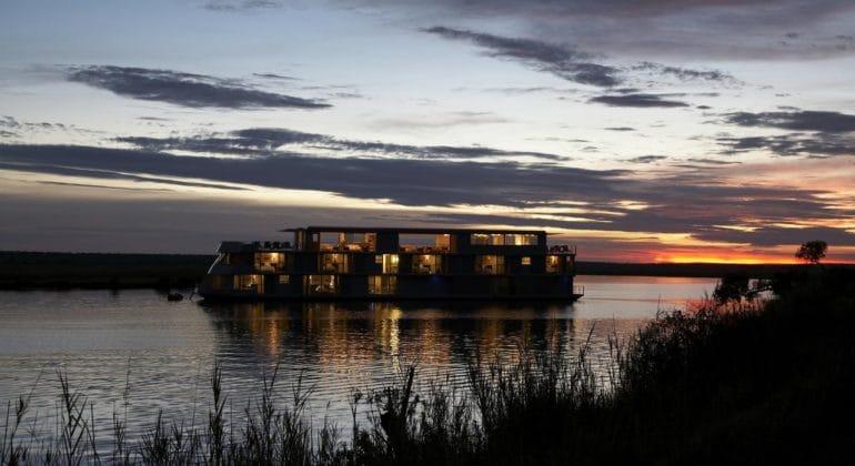 Zambezi Queen View At Night