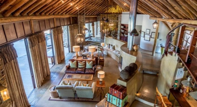 Makanyi Private Game Lodge Lobby 1