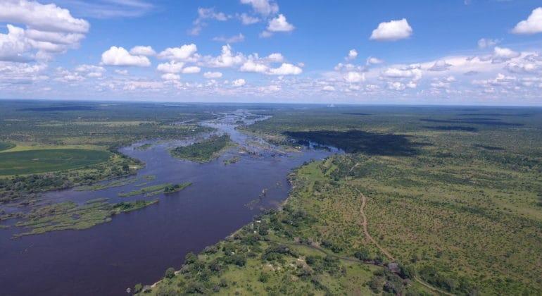 Mpala Jena Camp Aerial View