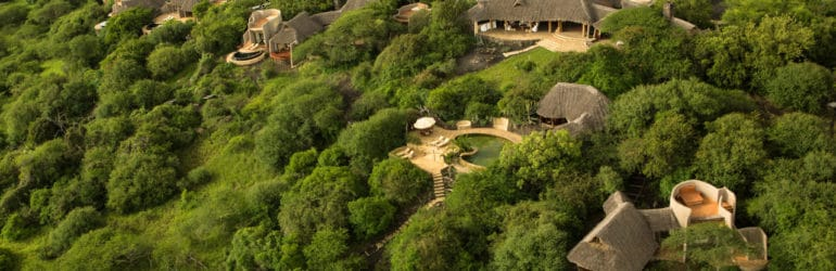 Ol Donyo Lodge Aerial View