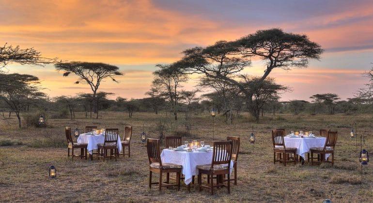 Ndutu Safari Lodge Outdoor Dining