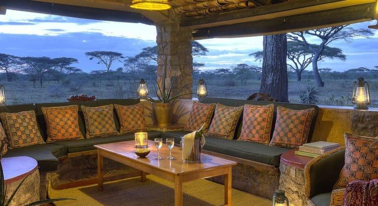 Ndutu Safari Lodge Sitting Area