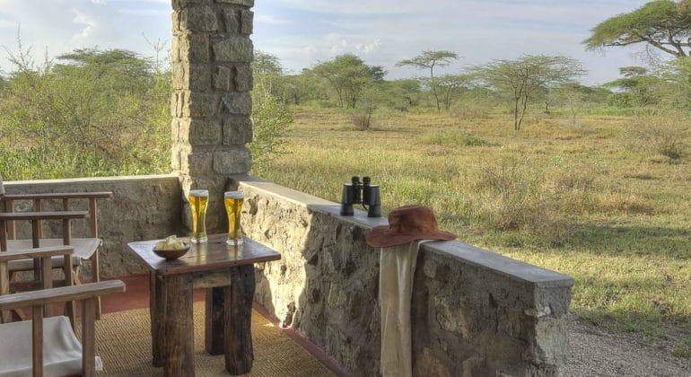 Ndutu Safari Lodge Verandah