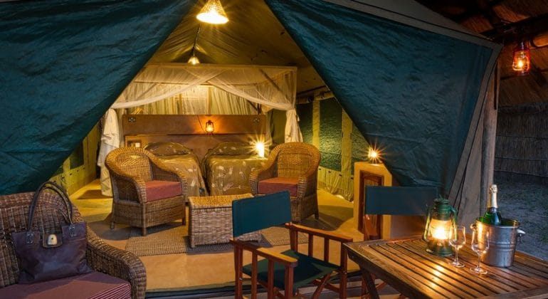 Flatdogs Tent And Chalets Sitting Area