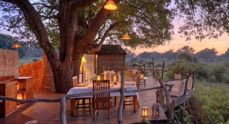 Jackalberry Treehouse Outdoor Dining