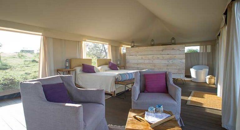 Mara Mara Tented Lodge Room