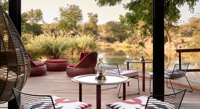 Royal Malewane Bar Sitting Area