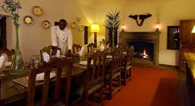 Sosian Lodge Dinng