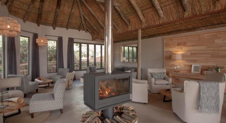 Amakhala Bukela Game Lodge Fireplace