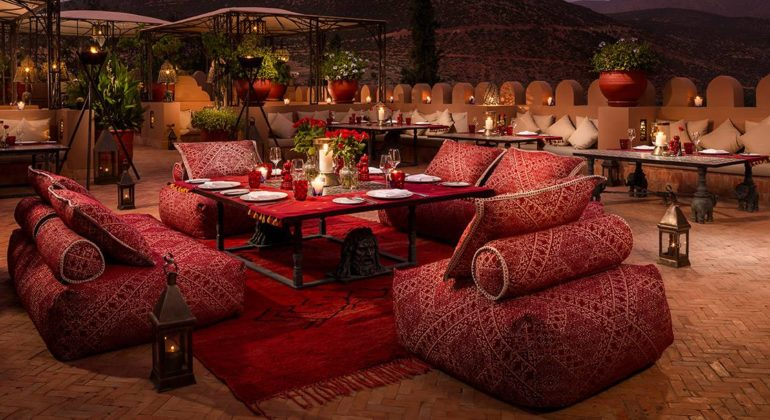 Kasbah Tamadot Terrace Dining 1