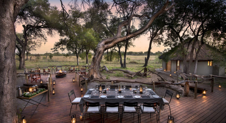 Khwai Bush Camp Outdoor Dining
