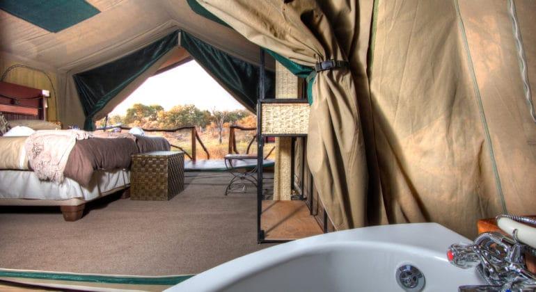 Camp Savuti Tent Ensuite Bathroom