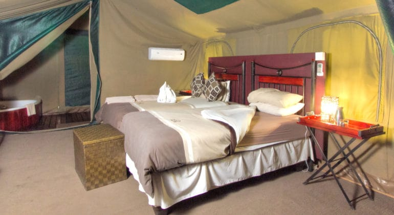 Camp Savuti Tent Interior