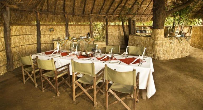 Island Bush Camp Dining