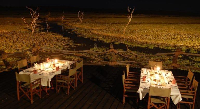 Kafunta River Lodge Deck Dining 1