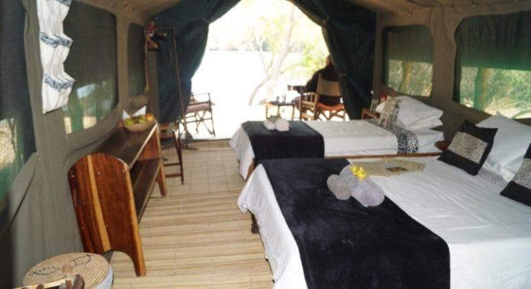 Mayukuyuku Bush Camp Tent Interior