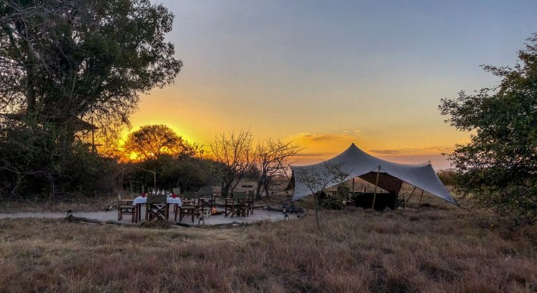 Ntemwa Busanga Camp Sunset View
