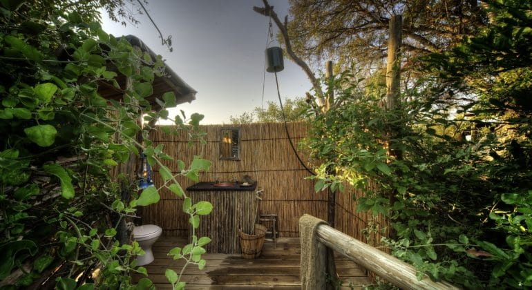 Oddballs' Enclave Outdoor Bathroom