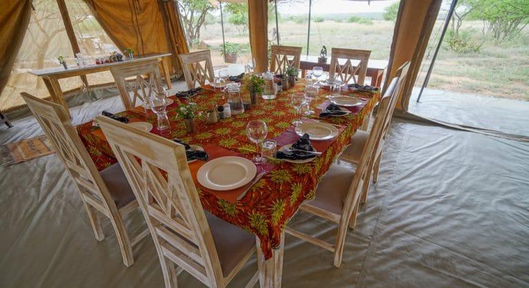Tumaren Camp Dining